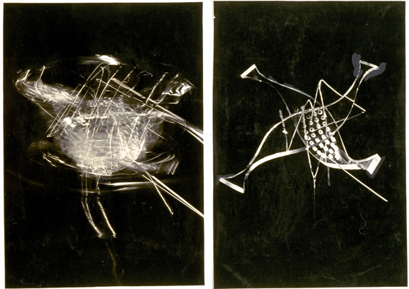 Plexiglas sculpture, in motion and at rest, 1936