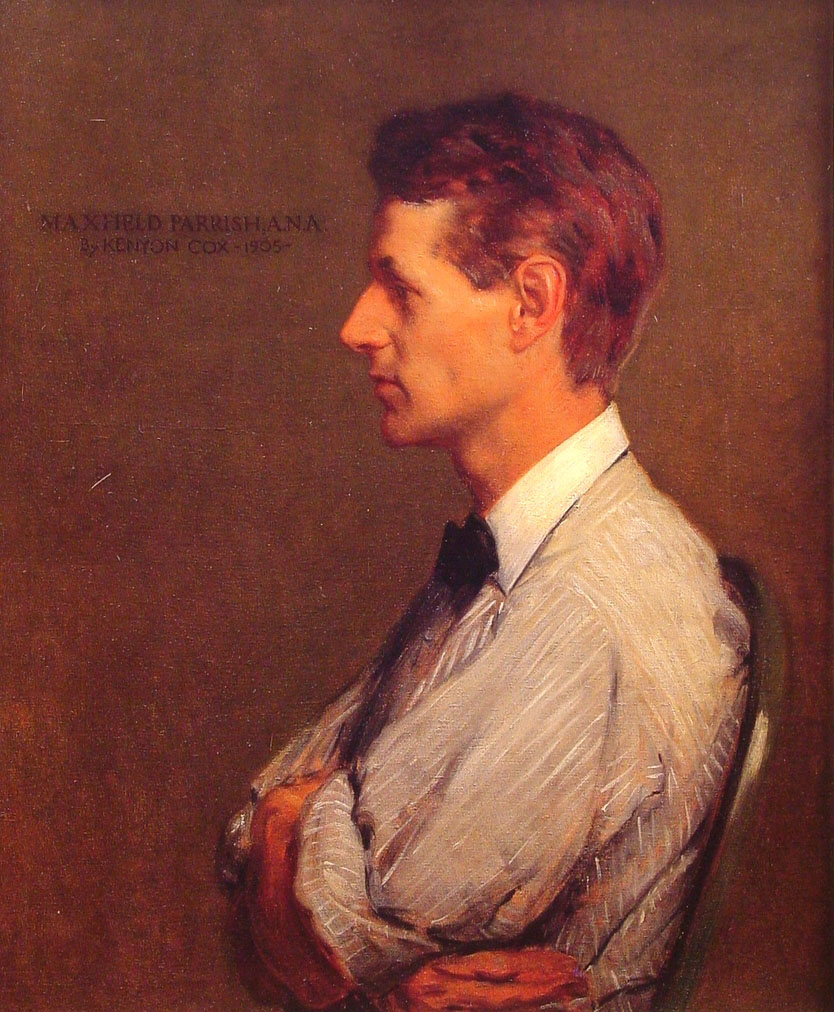 Portrait of Maxfield Parrish, 1905, by Kenyon Cox