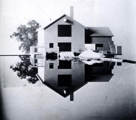 "Model on mirror, photographic study for ""Mill Pond"""