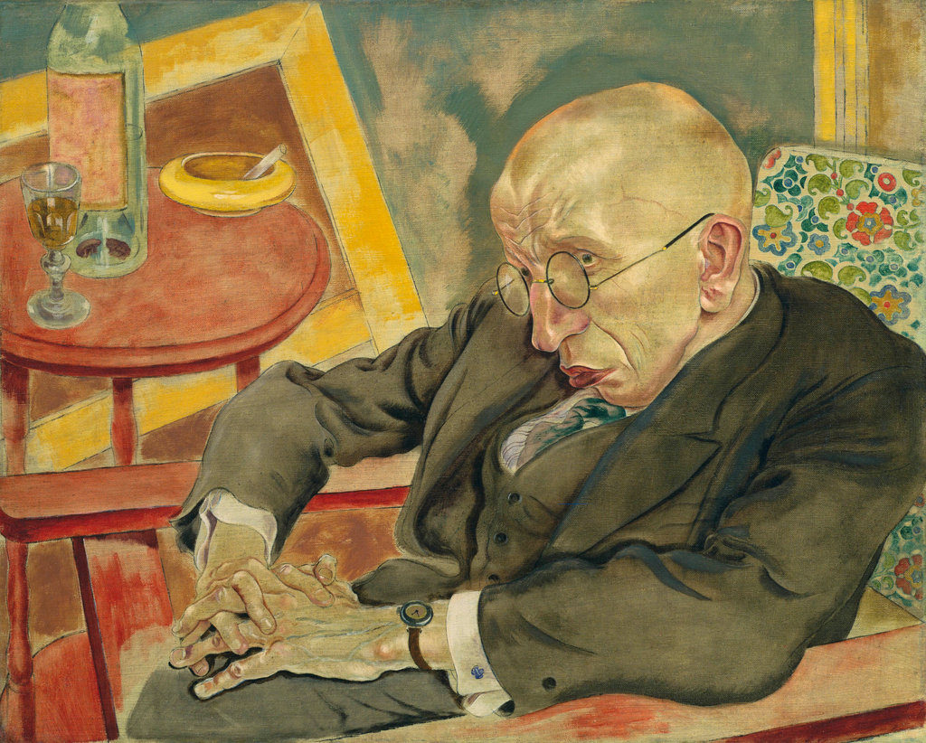 """Portrait Of Poet Max Herrmann Neisse,"" 1927 - one of the paintings involved in the suit against MOMA in"
