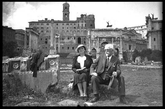Maruška and Alphonse Mucha, at the Roman Forum, Italy, 1930's