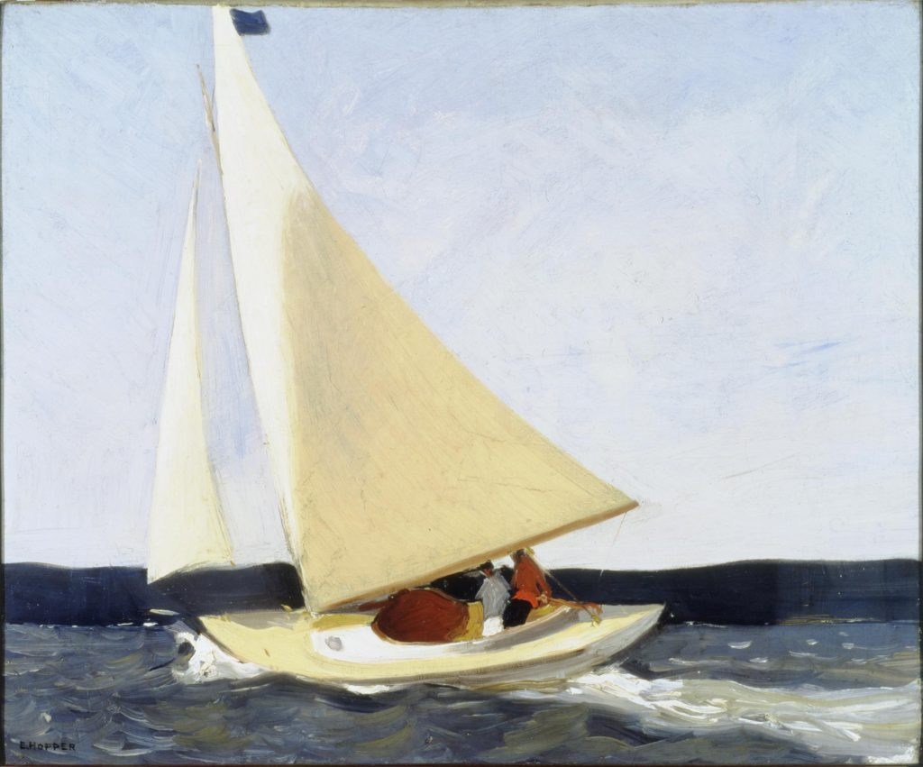 """Sailing,"" 1911 - sold in 1913, Hopper's first purchased work"
