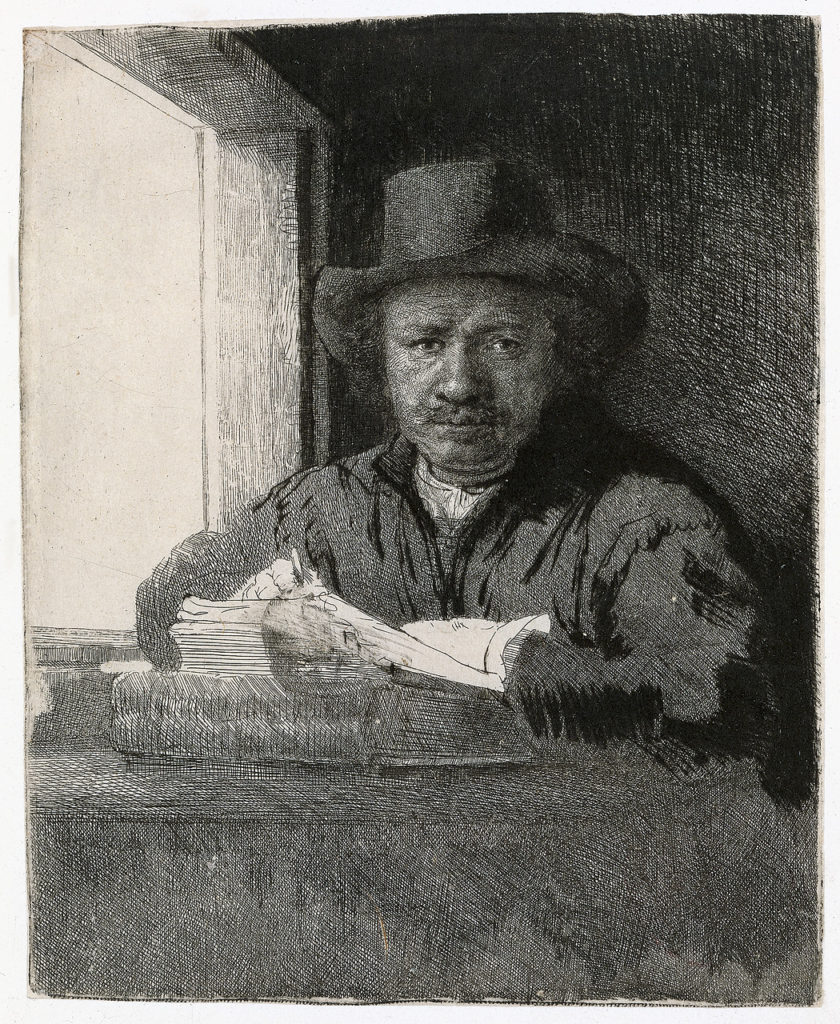 "Self portrait, ""Drawing At The Window,"" 1648"