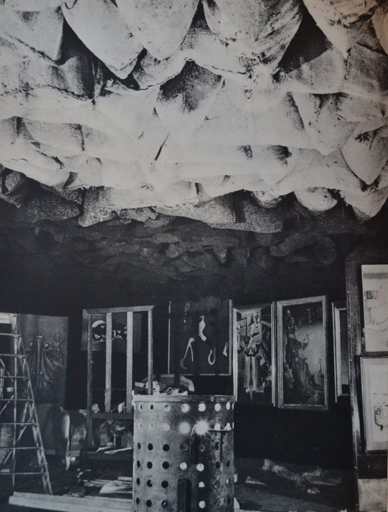 Marcel Duchamp, 1200 Coal Sacks, installation view at the Exposition Internationale du Surréalisme, Paris, 1938.