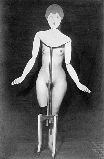 The Baroness poses for a photograph by Man Ray