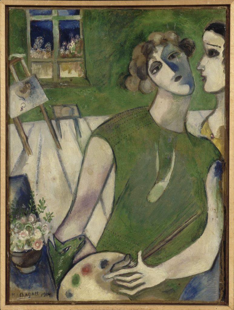 """""""Self Portrait In Green,"""" 1914"""