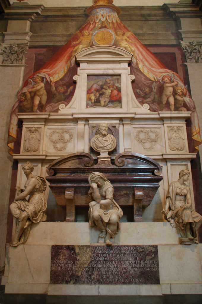 The tomb of Michelangelo, in Florence, designed by Giorgio Vasari