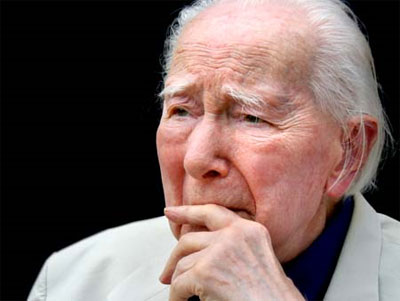 Tamás Lossonczy, looking remarkably young, on his 105th birthday
