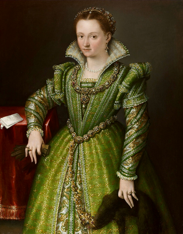 """Portrait of Laura Gonzaga in Green,"" c. 1580"
