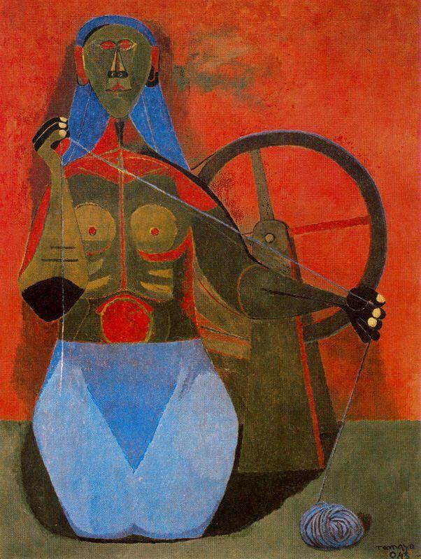 """Mujer Hilando,"" 1945"