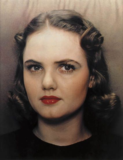 Portrait of a woman, c. 1939 - a fine example of Outerbridge's advancement in color photography
