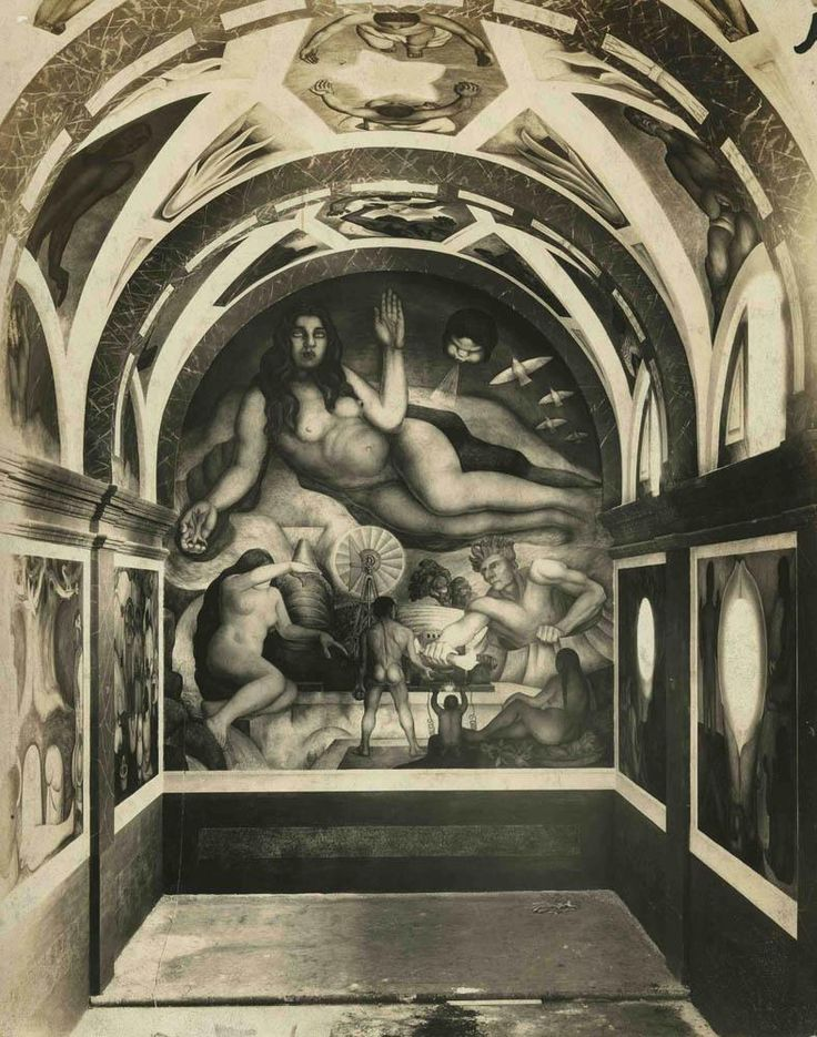 """The Abundant Earth,"" mural by Diego Rivera,1928 - photo by Tina Modotti. Modotti also served as the model for the work."
