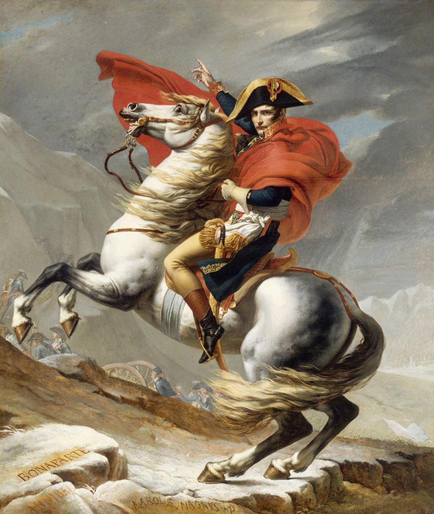 """Napolean Crossing The Alps,"" 1800"