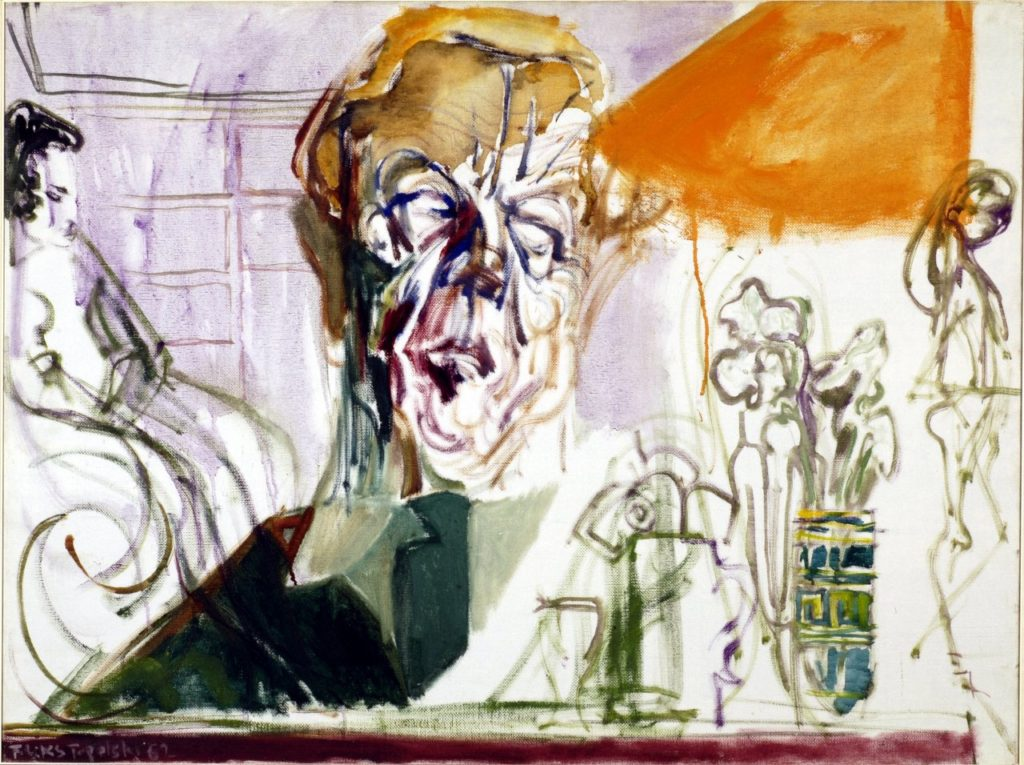 "Portrait of Cecil Day Lewis, 1962. The sitter's response for permission to publish the portrait in a magazine: ""I have no objections to Topolski's caricature appearing in the article you project—though I may assure you, privately, that I am not quite so corpse-like as the portrait suggests."""