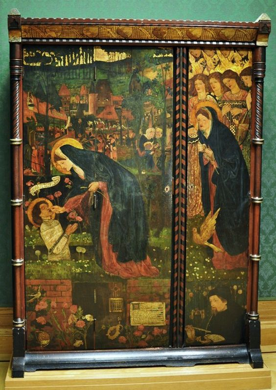 The Prioress' Tale, cabinet decorated by the artist