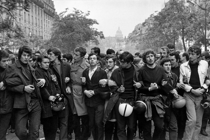 1968, Paris - student protest