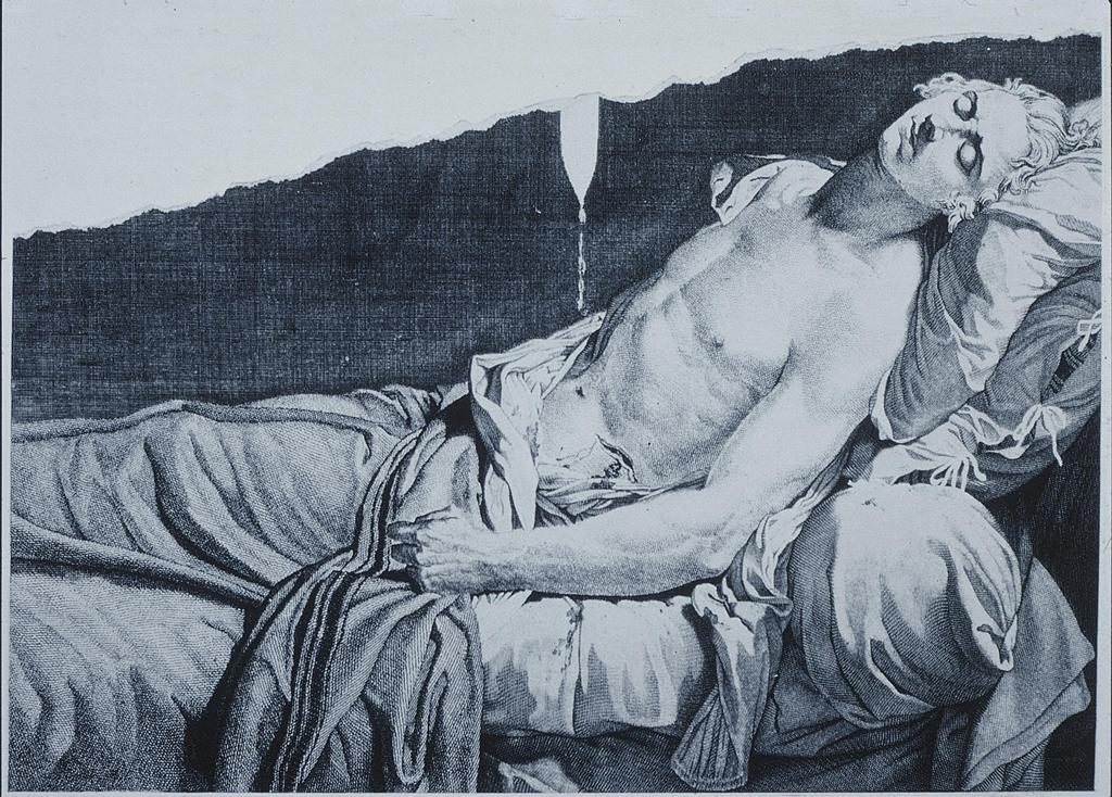 """The Death Of Lepeletier,"" engraving after the painting by David (now lost)"