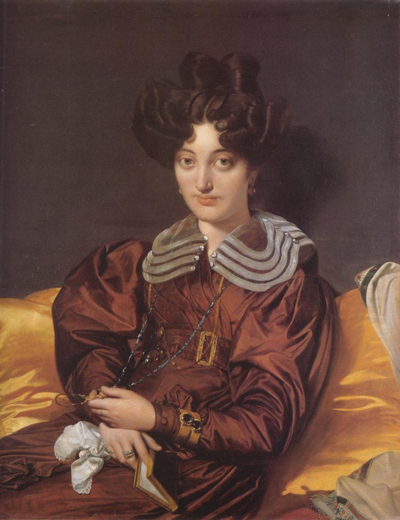 """""""Portrait of Madame Marie Marcotte de Sainte Marie, née Suzanne Clarisse de Salvaing de Boissieu,"""" 1826"""