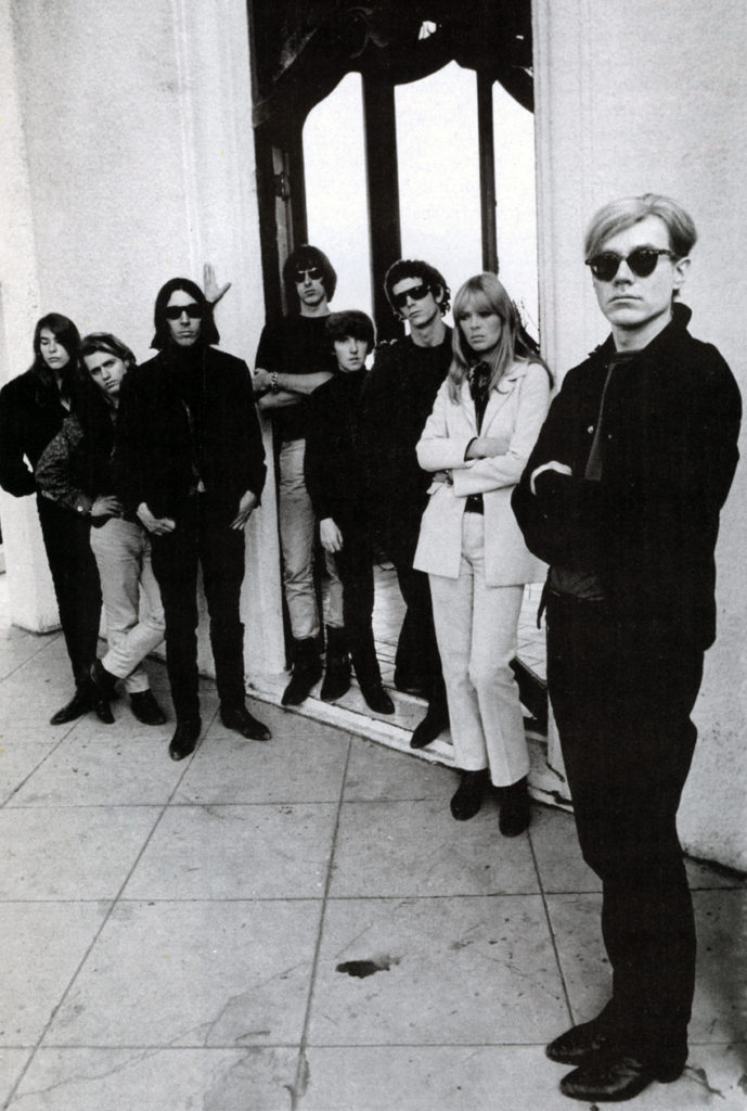 Warhol and others, including Lou Reed (third from right)