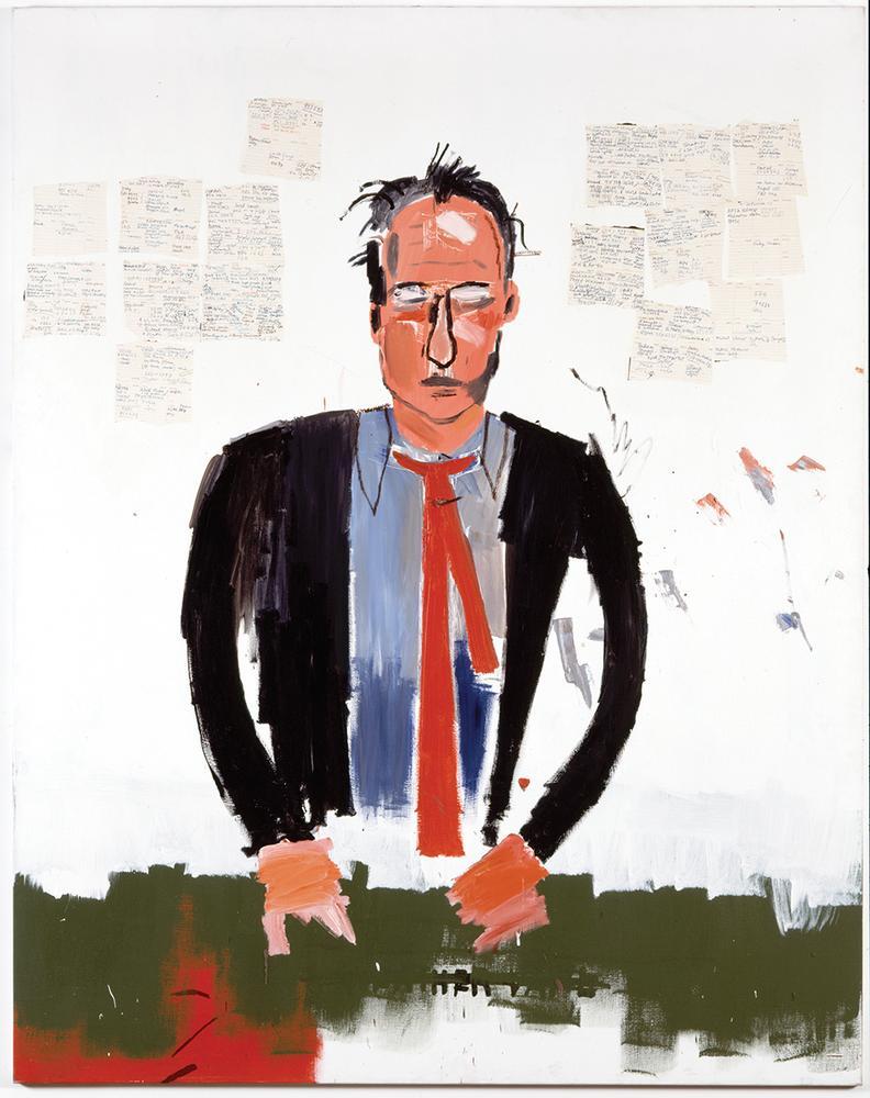 """""""Portrait of Robert Fraser,"""" by Jean Michel-Basquiat"""