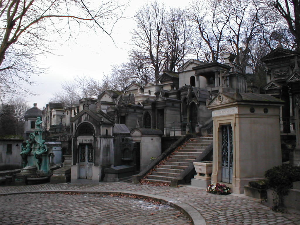 The enigmatically beautiful Peré Lachaise cemetery in Paris, France