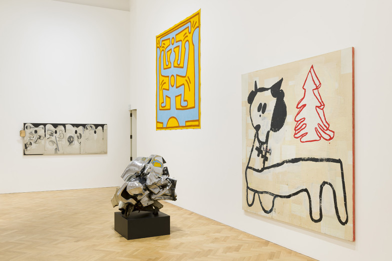 "Basquiat, Haring, and others' work in the Tate Gallery's Robert Fraser tribute exhibtion ""The Sweet Smell Of Incense"""