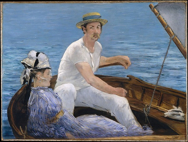 "Manet's ""Boating,"" from 1874, that some consider less ""successful"" than ""Oarsman In A Top Hat"""