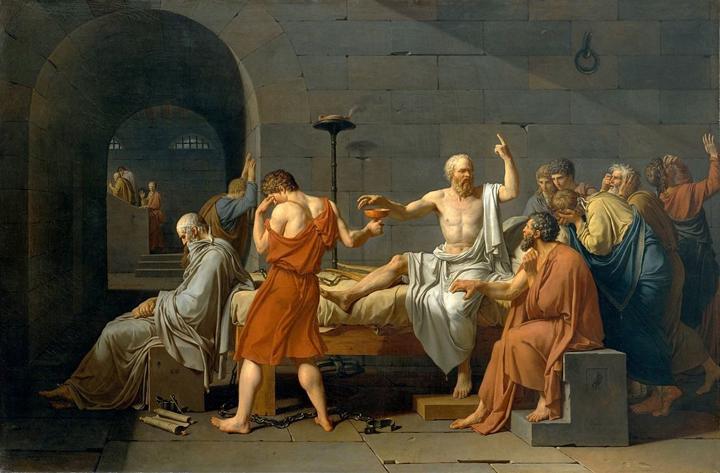 """The Death Of Socrates,"""