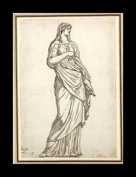 """Study of a Sabine statue,"" 1775"