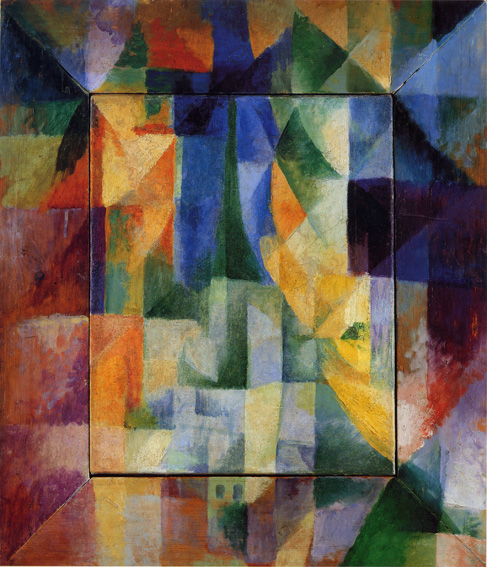 "Example of Orphism, by Apollinaire's friend Robert Delaunay, ""Simultaneous Windows on the City,"" 1912"