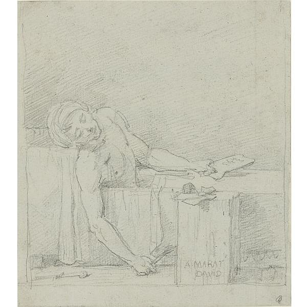 "Preliminary sketch for ""The Death Of Marat"""