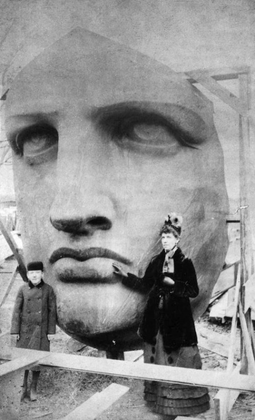 Construction of the Statue Of Liberty, NY, USA
