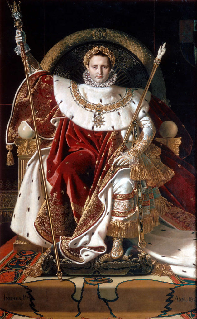 """Napoleon On His Imperial Throne,"""