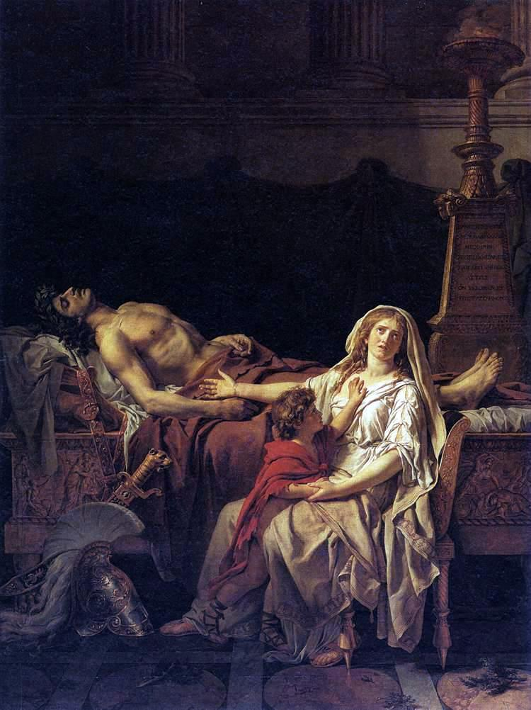 """Andromache Mourning Hector,"" 1782"