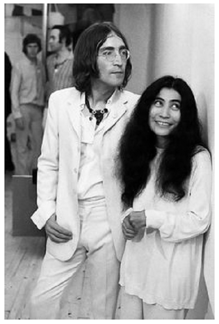 "Lennon and Ono at the opening of ""You Are Here,"" at the Robert Fraser Gallery, 1968"
