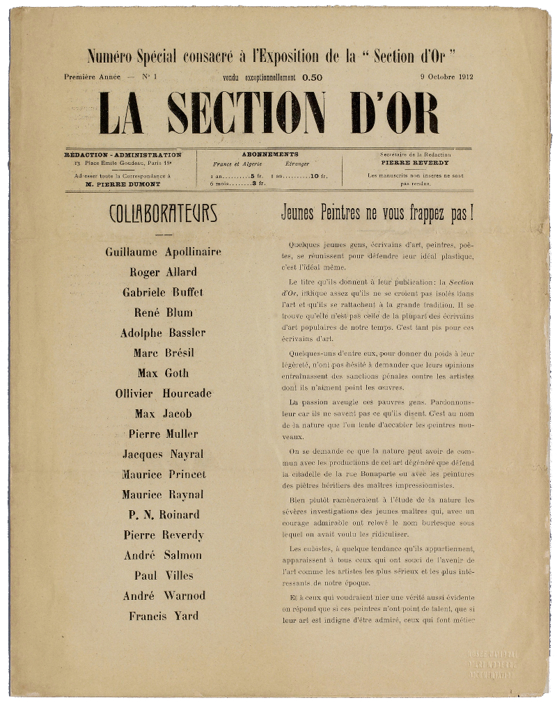 La_Section_d'Or,_numero_special,_9_Octobre_1912