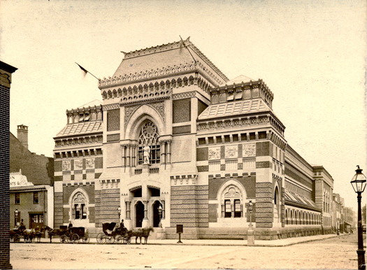 The Academy of Fine Arts, Philadelphia, PA - as seen in 1876