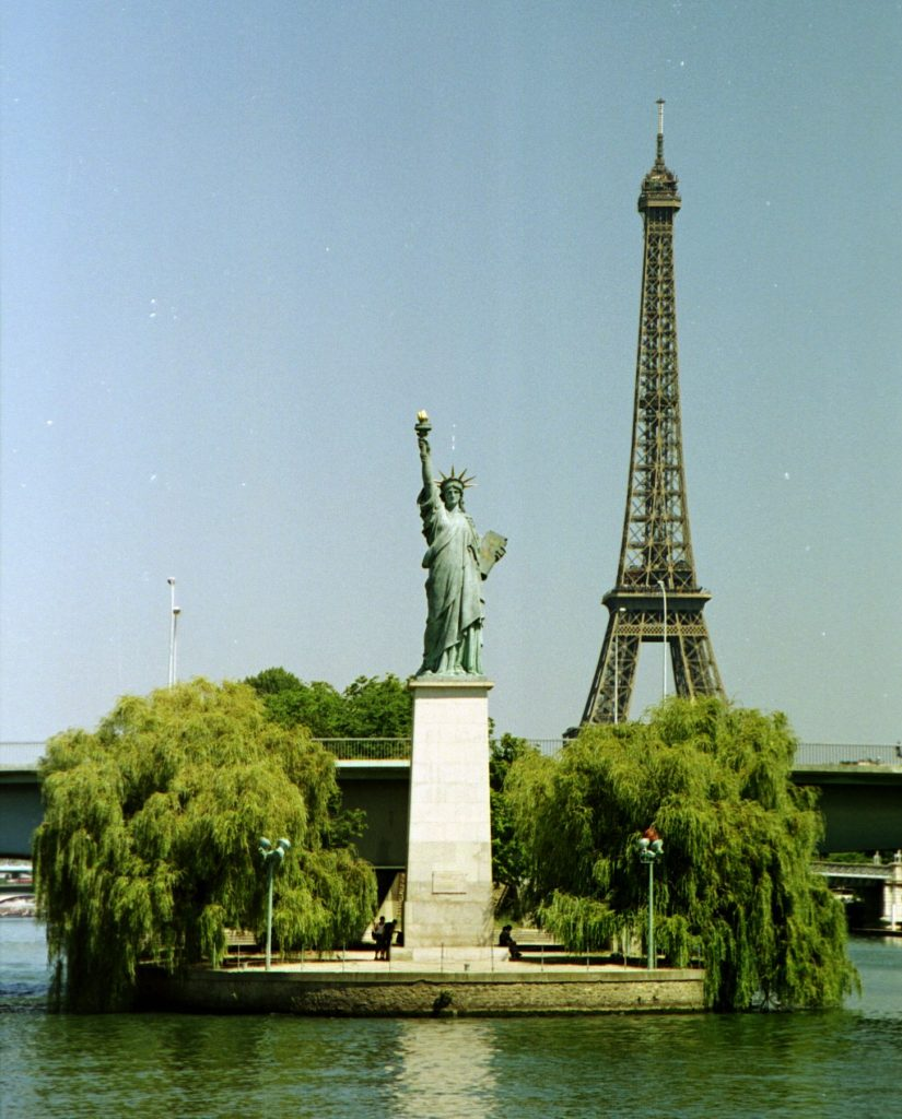 """Statue de la Liberte,"" in Paris"