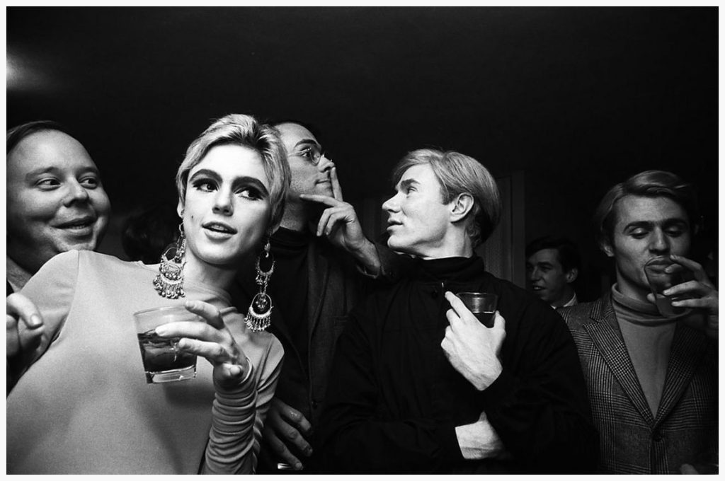 Warhol and Factory entourage, including the lovely Edie Sedgwick
