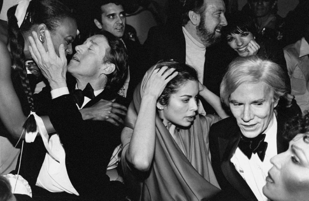 Warhol at Studio 54 (note the sparkle-eyed Liza Minelli in the back)