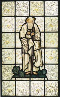 """Homer,"" from the stained glass windows at what is now the Victoria and Albert Museum"