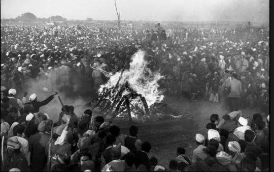 1948, India - the funeral of Mahatma Gahndi