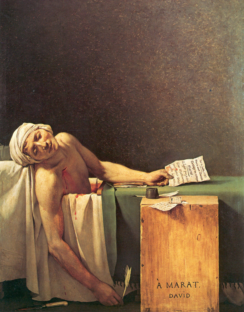 """The Death Of Marat,"""