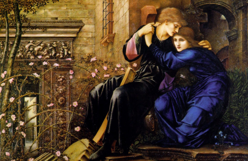 """Love Among The Ruins,"" oil reproduction of his ruined watercolor,"