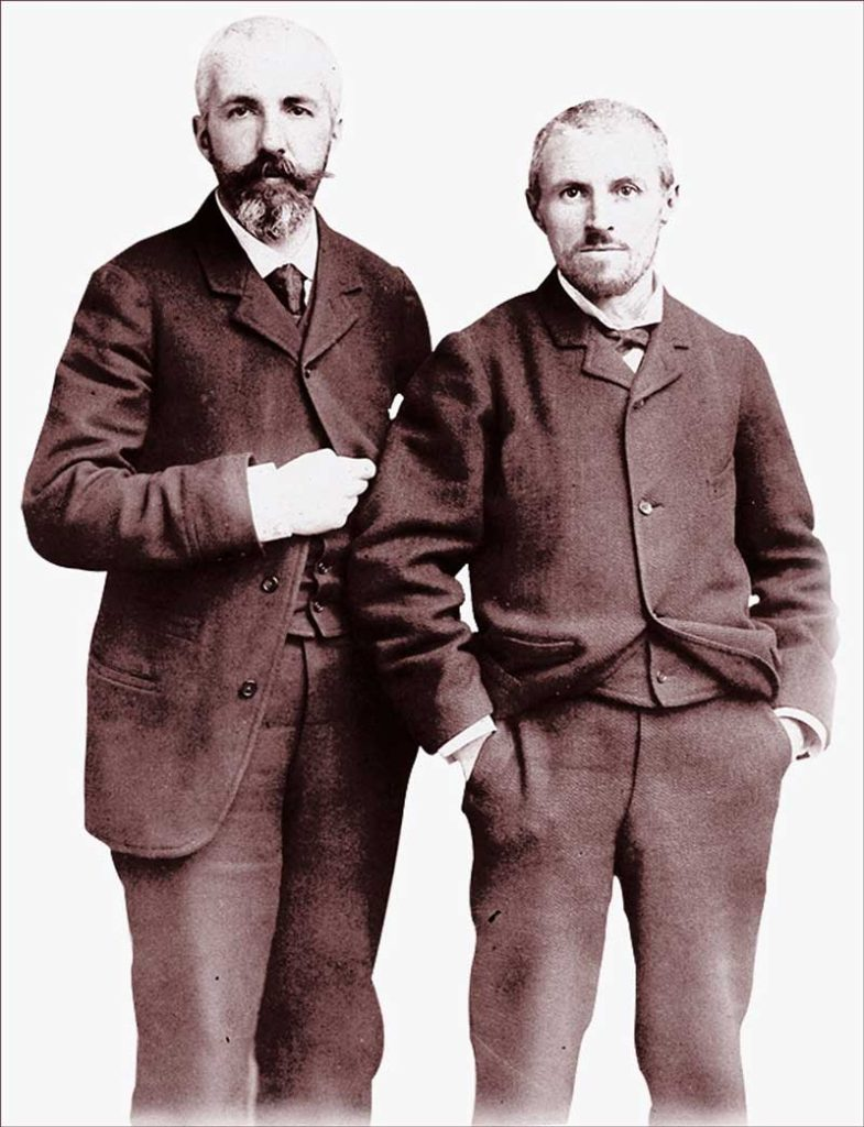 Gustave Caillebotte (on right) with his brother Martial