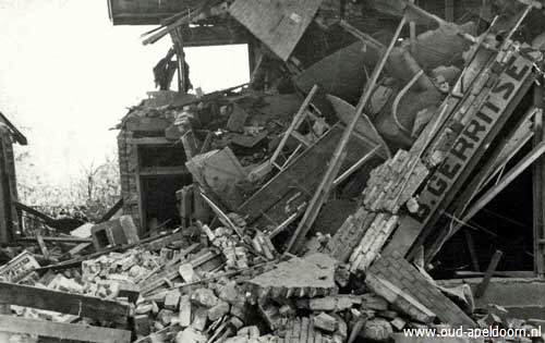 The city of St. Peter Molenstraat was heavily damaged at the end of World War II