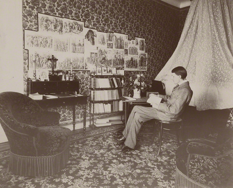 Beardsley at home, 1897
