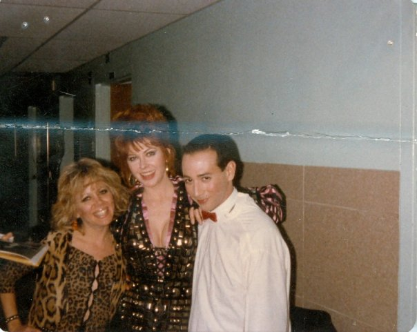 Terry B., Cassandra Peterson, and Paul Rubens at an early appearance of what would become the legendary Pee-wee Herman