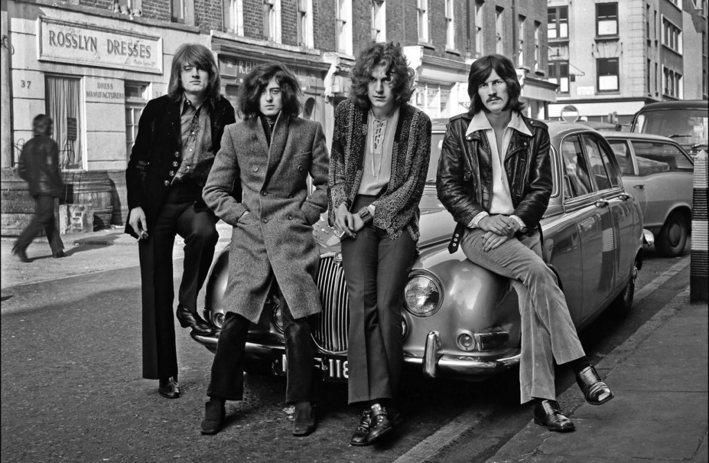 John Paul Jones, Jimmy Page, Robert Plant and John Bonham, London 1968