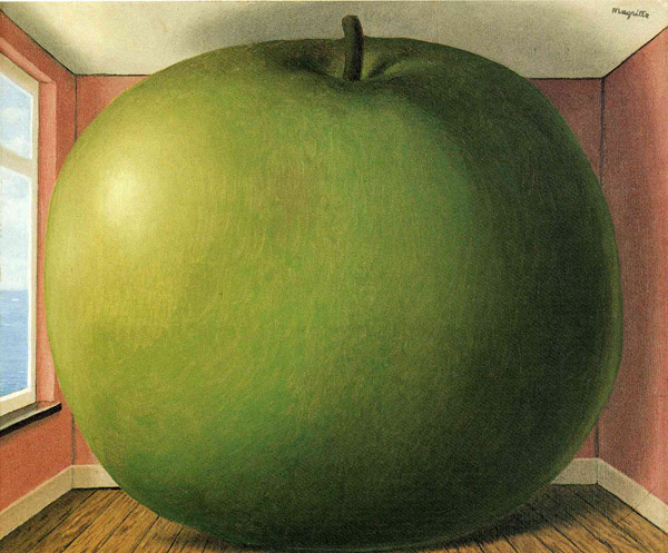 "Magritte's ""The Listening Room,"" 1952 - a gift from Fraser to McCartney, that inspired Apple Records"